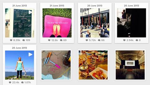 lululemon video posts vs image post engagement