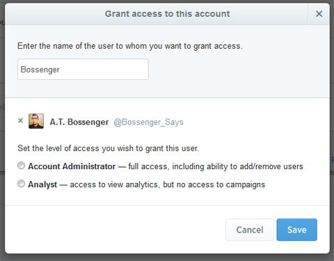 user account set up