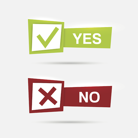banners with check marks confirmation acceptance positive passed voting agreement true and