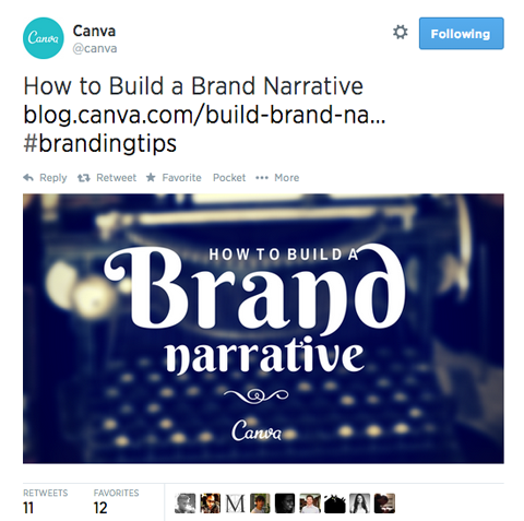 @canva tweet with an image