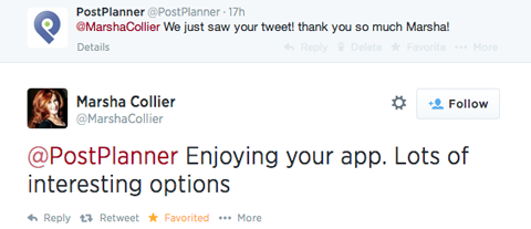 @postplanner response to @marshacollier