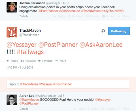 tweet from @trackmaven
