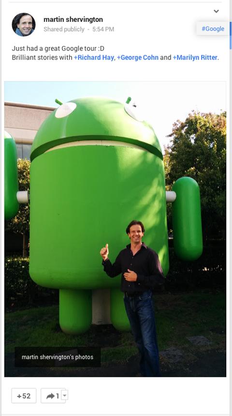 example of google+ endorsement