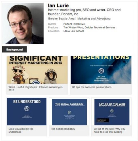 add slideshares to linkedin profile