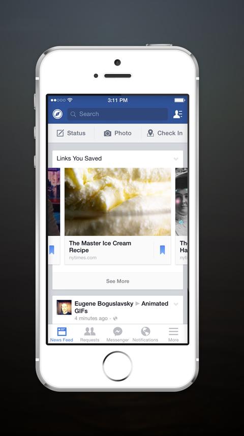 saved links reminder on facebook