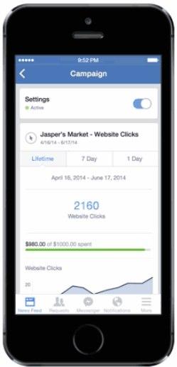 manage facebook ads mobile