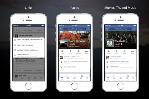 saving links on facebook