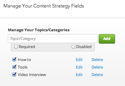customizing content options in divvyhq
