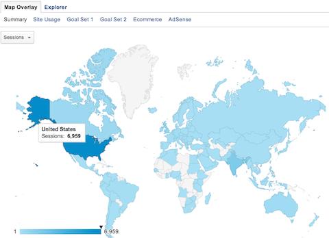 google analytics map overlay