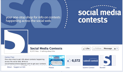 facebook contest collection page