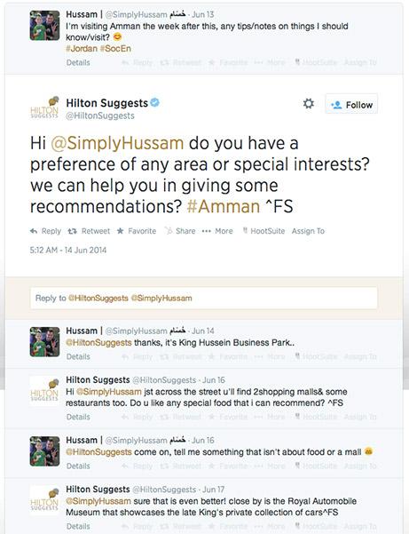 hilton suggests tweet