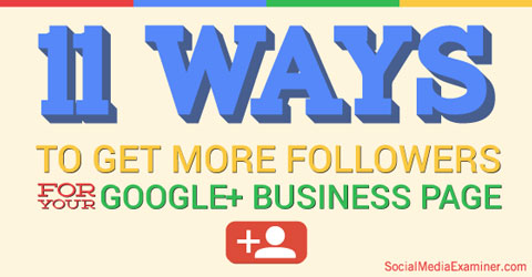 google+ page followers