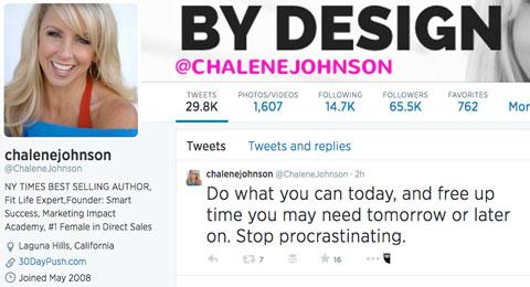 chalene johnson twitter