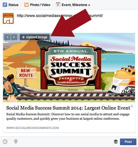 facebook upload image feature