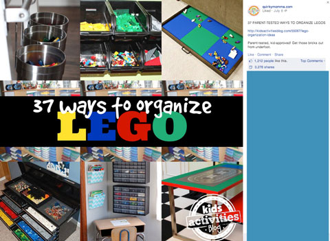 auirky momma facebook page lego table post