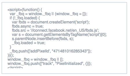 remarketing pixel code