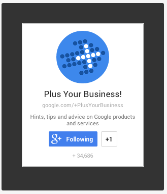 google+ website badge