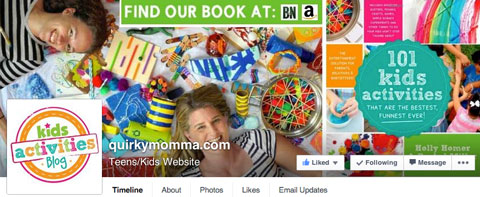 auirky momma facebook page cover image