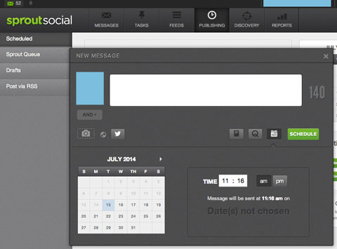 sproutsocial scheduling feature