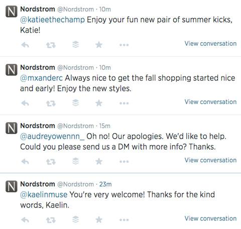 nordstrom twitter feed