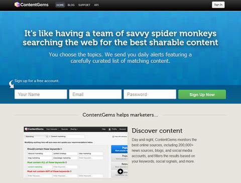 contentgems website capture