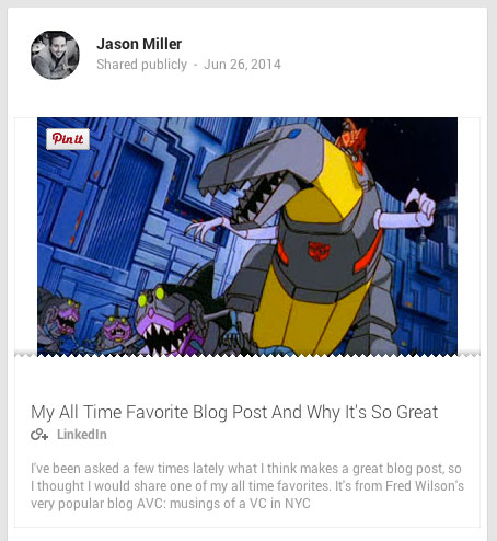 jason miller publisher post on google plus
