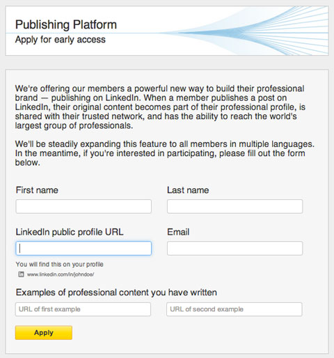 publisher application
