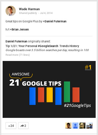 google plus share and tag