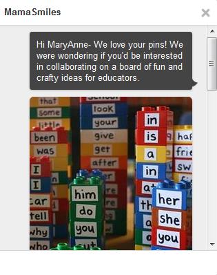 mamasmiles pinterest invitation message