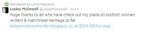 lesley mcdowell tweet
