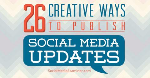 26 social media updates