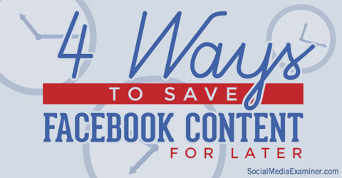 saving article links on facebook