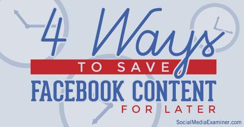 saving article links on facebook