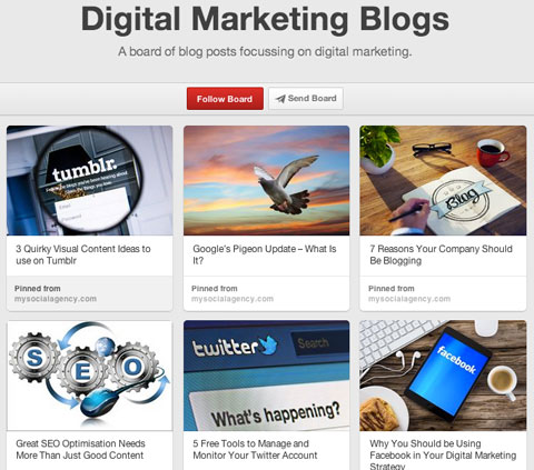 my social agency blog board