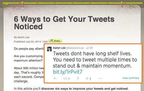 askaaronlee tweet with article quote