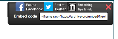 embed code for an audio file on internet archive