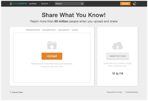 slideshare upload experience