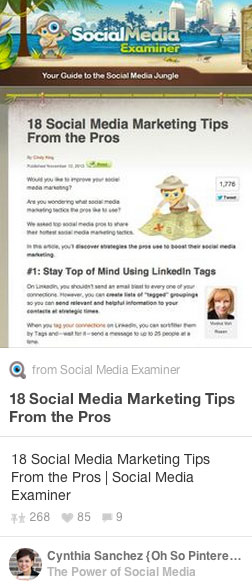 social media examiner pin by cynthia sanchez