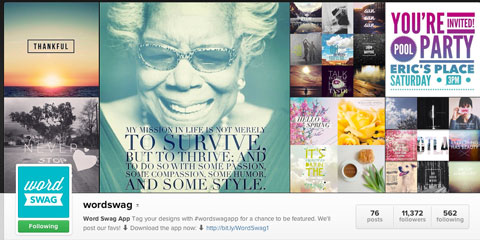 wordswag instagram