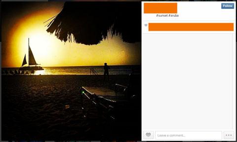instagram image with #aruba