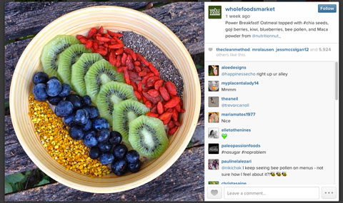 whole foods instagram image with #chia
