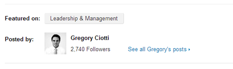 linkedin post featured on leadership and management channel
