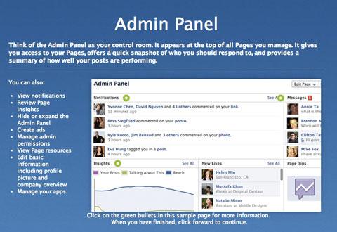 facebook studio admin panel