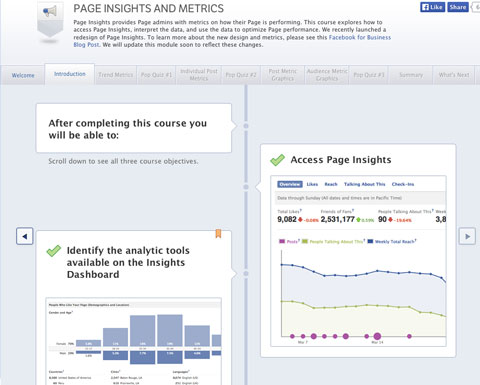 facebook studio insights section