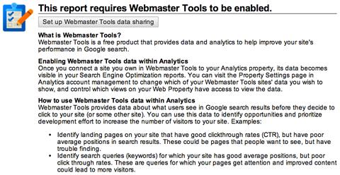 google webmaster tools setup