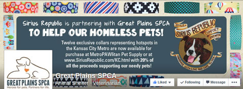 great plains spca facebook cover image