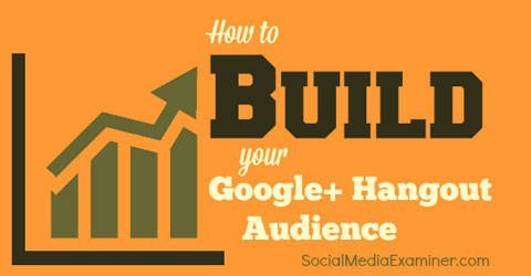 build a google hangout audience