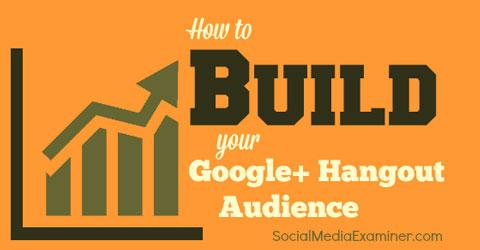 build a google hangout audience