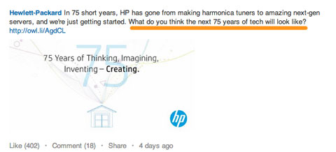hewlett-packard on linkedin
