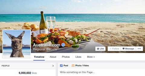 tourism australia facebook